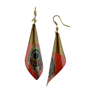 Boho Dangle Peacock Feather Women Earrings