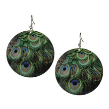 Load image into Gallery viewer, Circular Peacock Feather Drop Boho Women Earrings