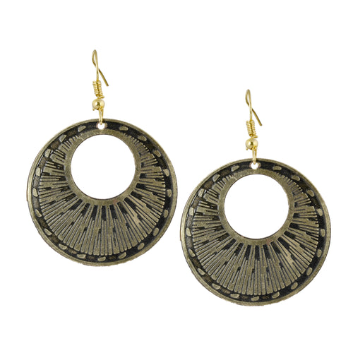 Circular Minimalist Metal Hoop Earrings For Women