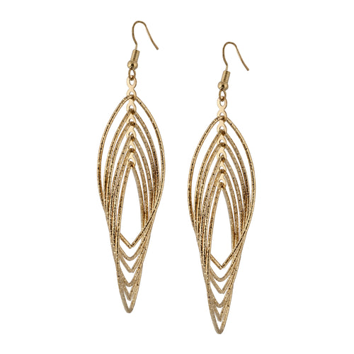 Bohemian Golden Oval Hoop Earrings For Women