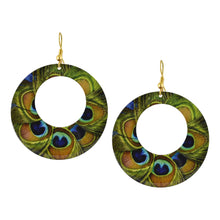 Load image into Gallery viewer, Boho Hoop Peacock Feather Earrings For Women