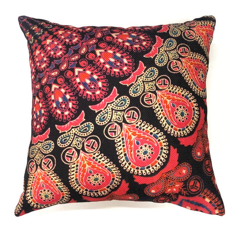 Pink Decorative Rajasthani Mandala Throw Pillow Cover