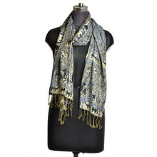 Load image into Gallery viewer, Elephant & Camel Print Blue Scarf