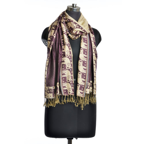 Purple Indian Elephant Scarf