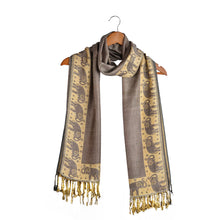 Load image into Gallery viewer, Light Purple Indian Elephant Scarf