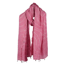 Load image into Gallery viewer, Bandhani Pink Scarf For Women