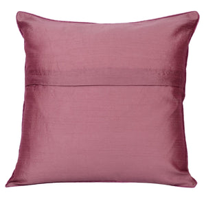 Embroidered Pink Decorative Throw Pillow Cover