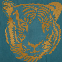 Load image into Gallery viewer, Embroidered Tiger Throw Pillow Cover