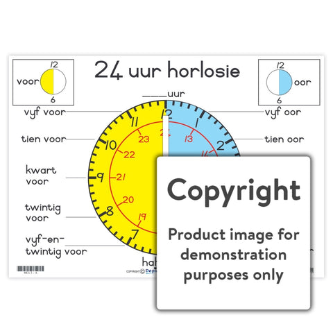 24 Uur Horlosie: A3+ Wall Charts And Posters