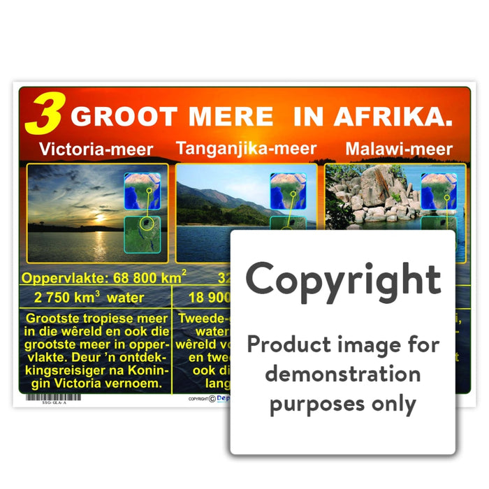 3 Groot Mere In Afrika Wall Charts And Posters
