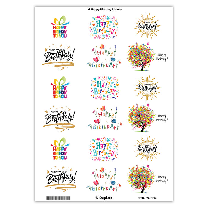"""Happy Birthday"" Stickers - 1"