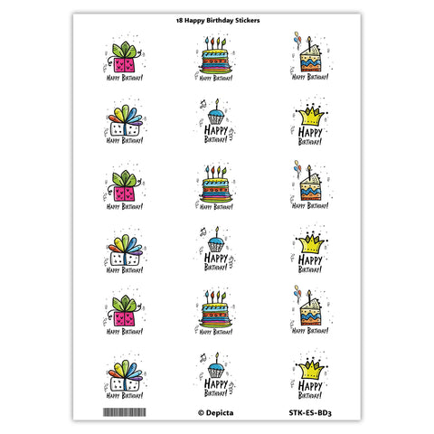 Happy Birthday Stickers 2