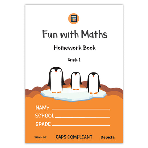 Fun with Maths Homework Book - Grade 1