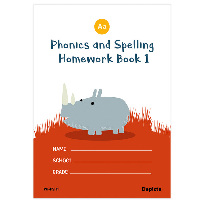 Phonics and Spelling Homework Book 1