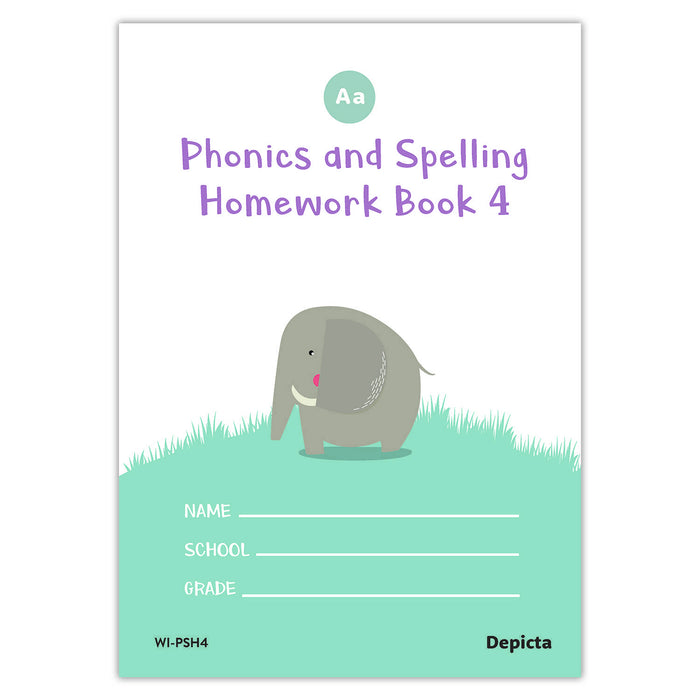 Phonics and Spelling Homework Book 4