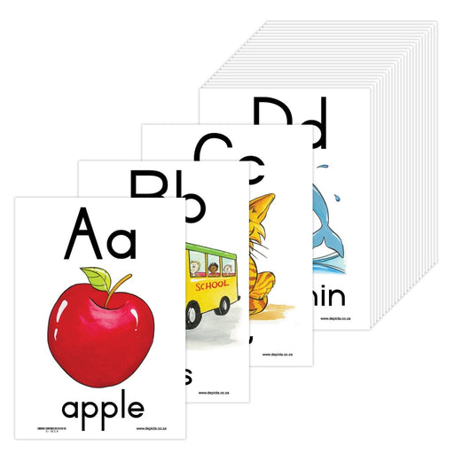 A - Z Alphabet: A4 Wall Charts And Posters