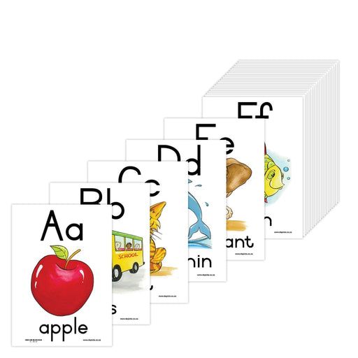 A - Z Alphabet: A5 Wall Charts And Posters