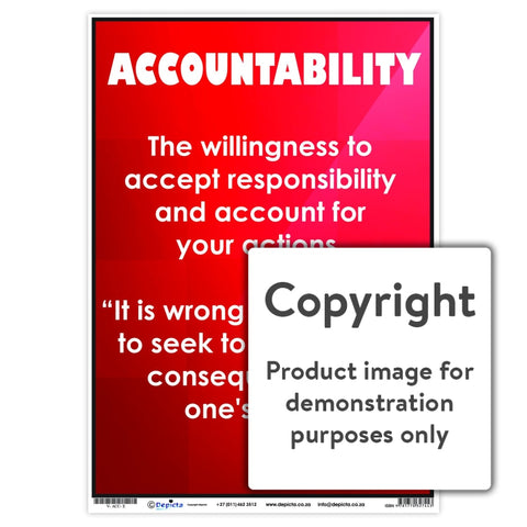 Accountability Wall Charts And Posters