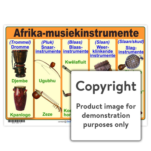 Afrika-Musiekinstrumente Wall Charts And Posters