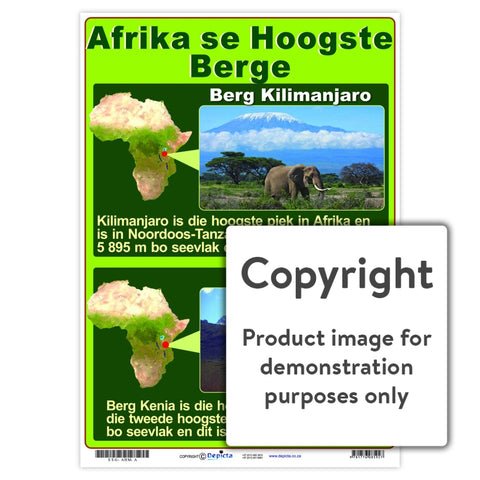 Afrika Se Hoogste Berge Wall Charts And Posters