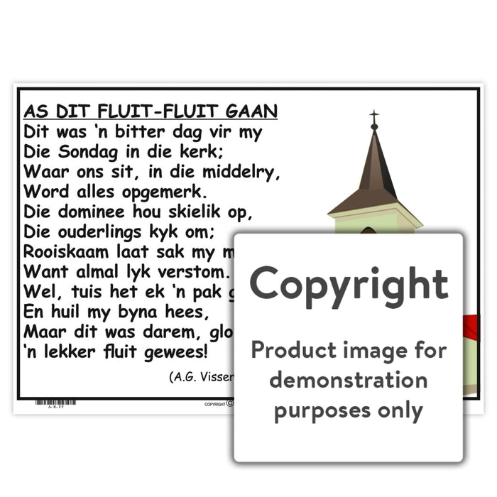 Afrikaanse Rympies: As Dit Fluit-Fluit Gaan Wall Charts And Posters