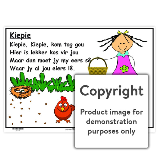 Afrikaanse Rympies: Kiepie Wall Charts And Posters