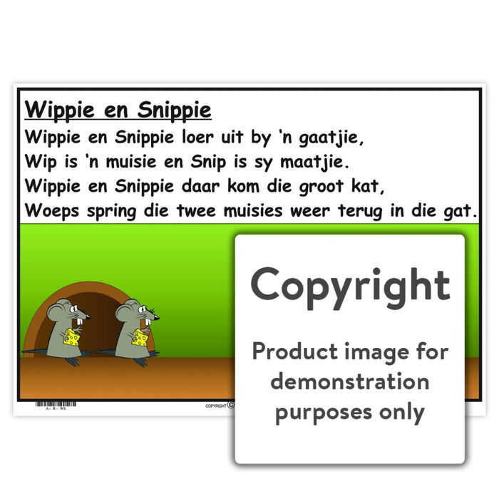 Afrikaanse Rympies: Wippie En Snippie Wall Charts And Posters