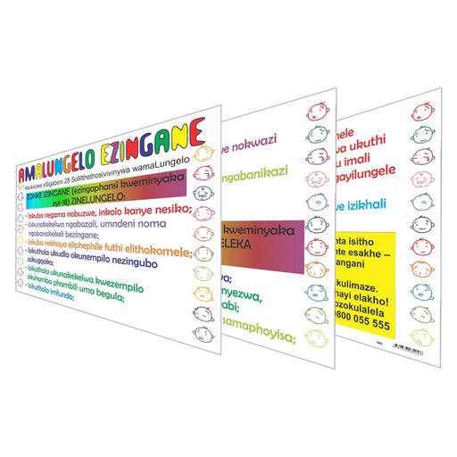 Amalungelo Ezingane (Childrens Rights) Wall Charts And Posters