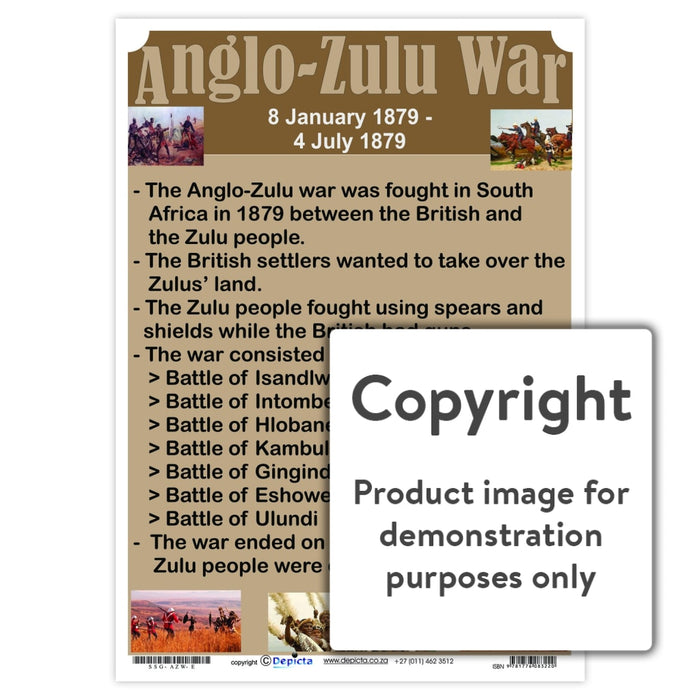 Anglo-Zulu War Wall Charts And Posters