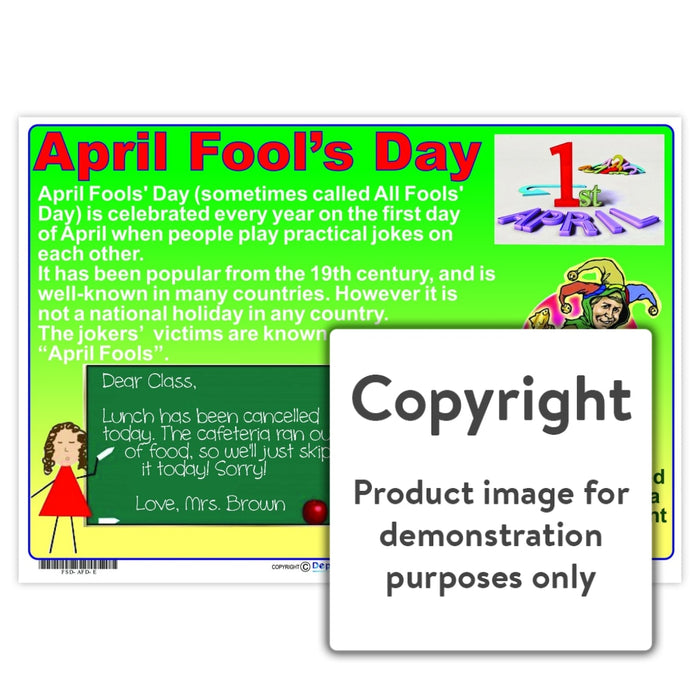 April Fools Day Wall Charts And Posters