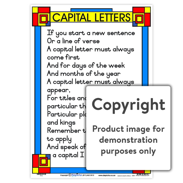 Capital Letters - Poem Wall Charts And Posters