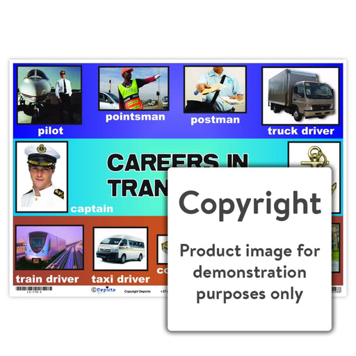 Careers In Transport Wall Charts And Posters