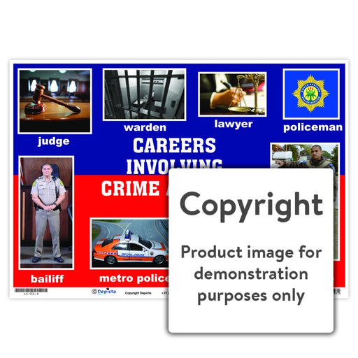 Careers Involving Crime And Law Wall Charts Posters