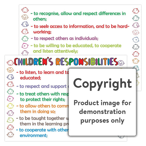 Childrens Responsibilities Wall Charts And Posters