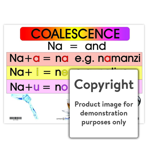 Coalescence - (Zulu Language Chart) Wall Charts And Posters