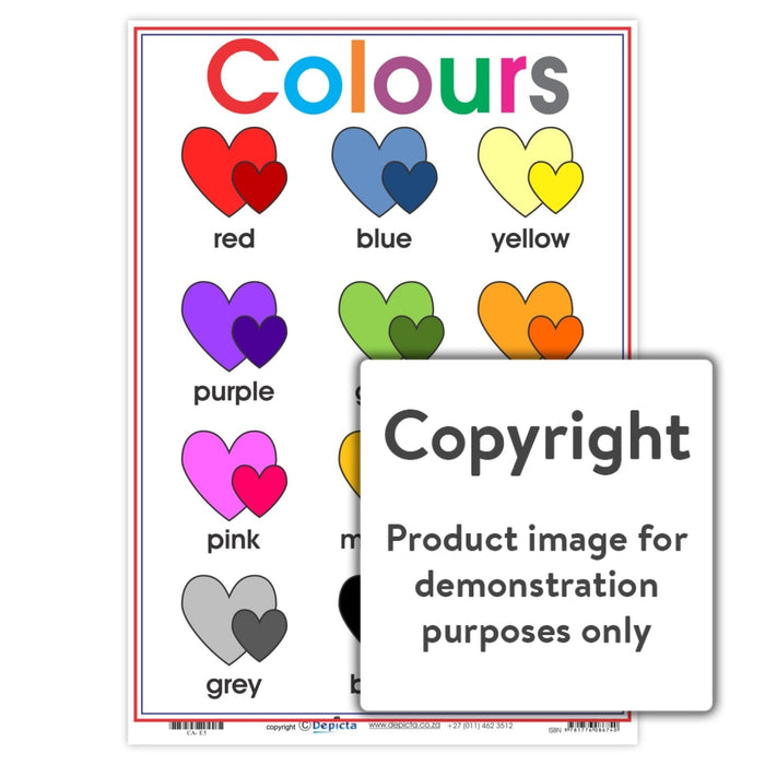Colours - Hearts Wall Charts And Posters