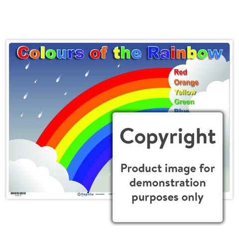 Colours Of The Rainbow Wall Charts And Posters