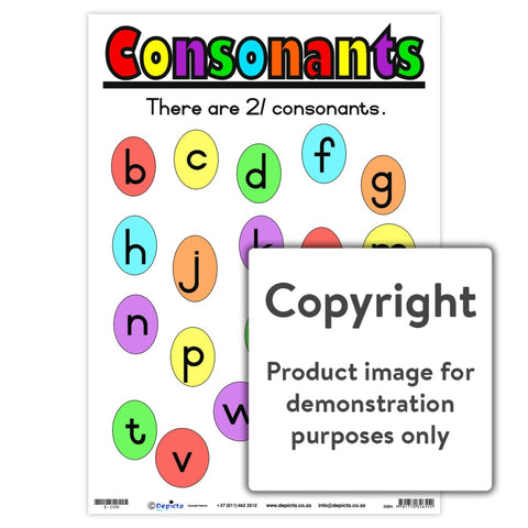 Consonants Wall Charts And Posters