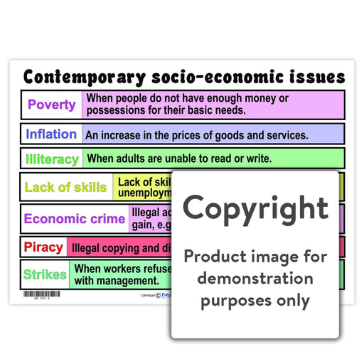 Contemporary Socio-Economic Issues Wall Charts And Posters