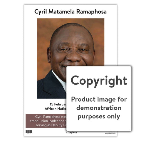 Cyril Matamela Ramaphosa - English Wall Charts And Posters
