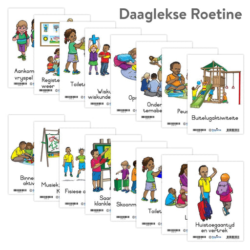 Daaglikse Roetine Wall Charts And Posters