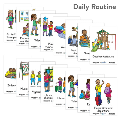 Daily Routine Wall Charts And Posters
