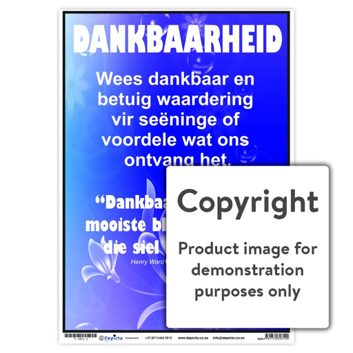 Dankbaarheid Wall Charts And Posters