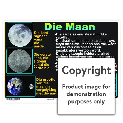 Die Maan Wall Charts And Posters
