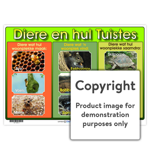 Diere En Hul Tuistes Wall Charts And Posters