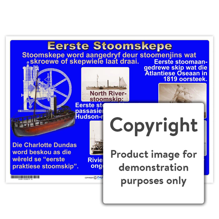 Eerste Stoomskepe Wall Charts And Posters