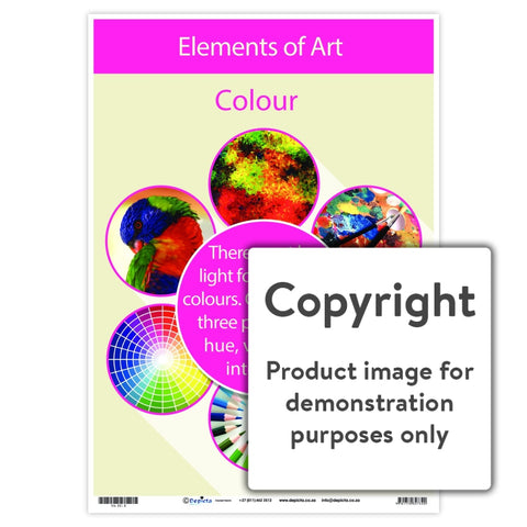 Elements Of Art - Colour Wall Charts And Posters