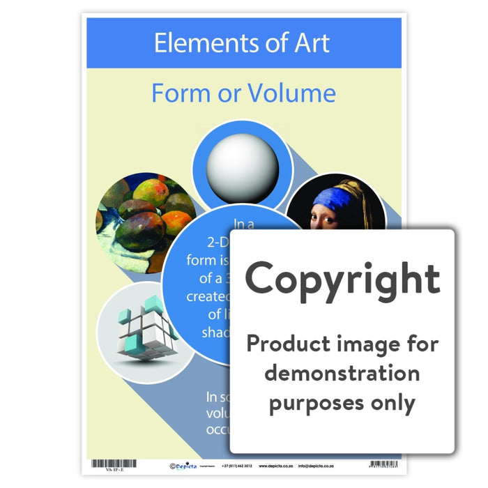 Elements Of Art - Form Or Volume Wall Charts And Posters