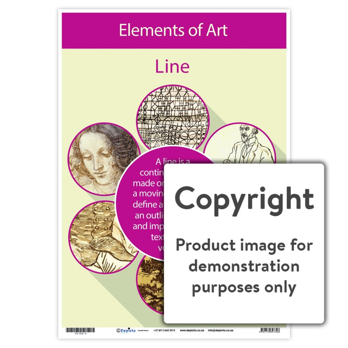 Elements Of Art - Line Wall Charts And Posters