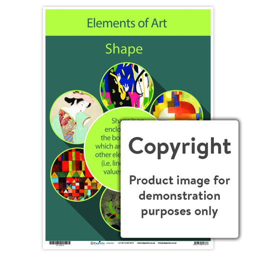 Elements Of Art - Shape Wall Charts And Posters